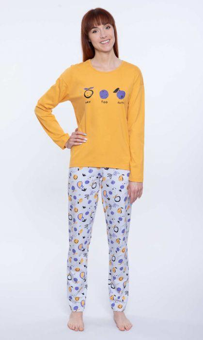 104585 piżama damska długi rękaw