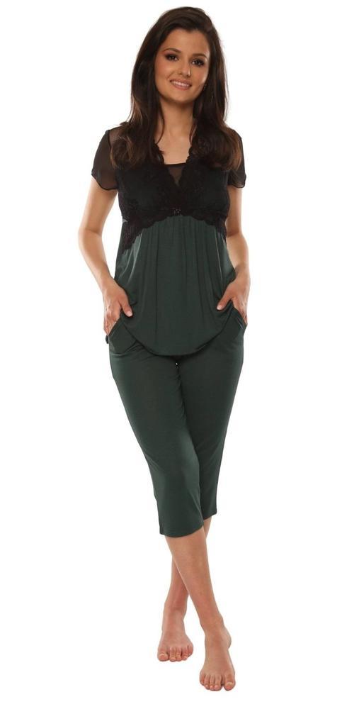 Piżama krótki rękaw + 3/4 spodnie artemise 490
