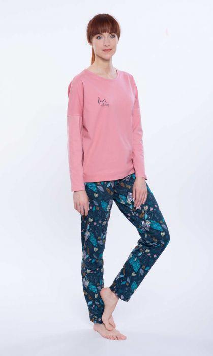 104587 piżama damska długi rękaw