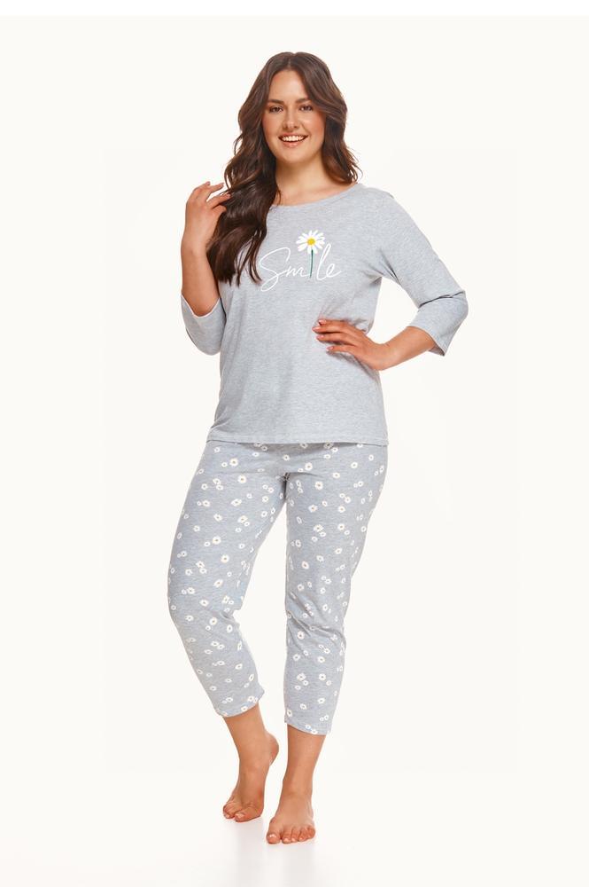 2601 piżama damska długa hera 4xl-5xl zima 2021
