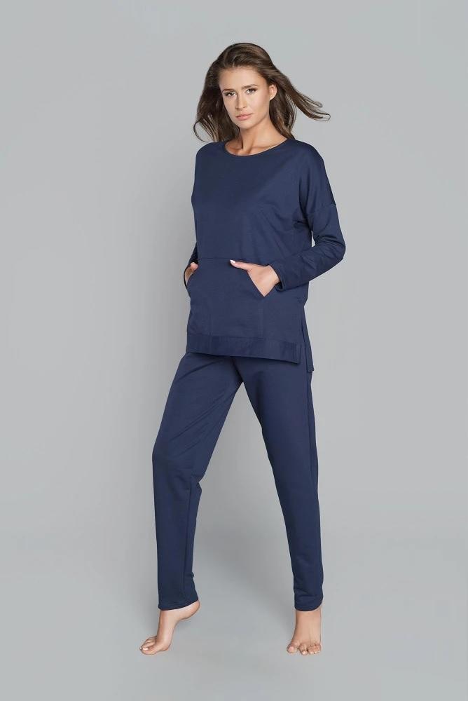 Komplet dresowy ren długi rękaw długie spodnie