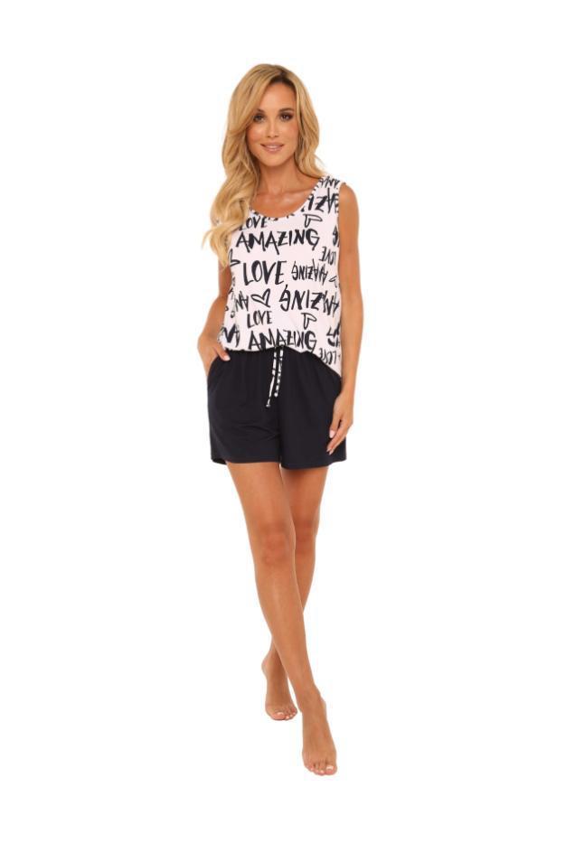 Piżama na szerokim ramiączku + szorty amazing 611