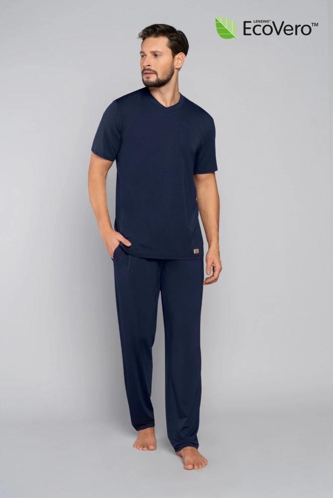Piżama męska turyn krótki rękaw długie spodnie - ecovero
