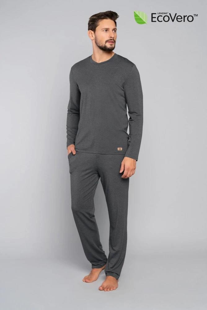 Piżama męska turyn długi rękaw długie spodnie - ecovero