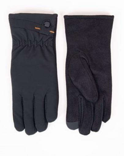 Rękawiczki męskie 5 p  dotyk spód zamsz rs-085