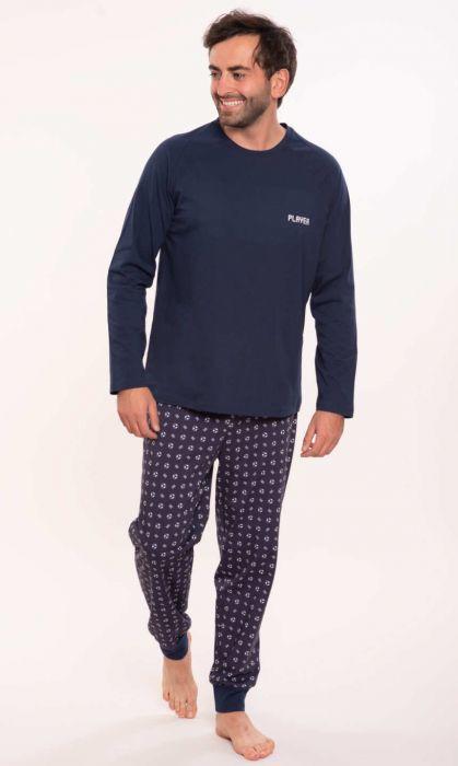 204156 piżama męska długi rękaw