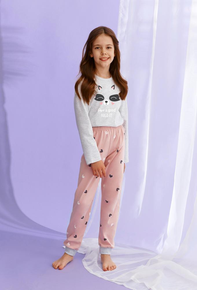 2586 piżama dziewczęca długa suzan zima 2021